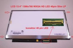 "N134B6-L04 VER.1.0 LCD 13.4"" 1366x768 WXGA HD LED 40pin Slim LP display displej Chi Mei"