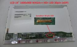 "Display B140RW01 V.2 14"" 1600x900 LED 30pin (eDP)"
