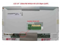 "Display LP140WH4(TP)(A1) 14"" 1366x768 LED 30pin (eDP) levý konektor"