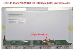 "Display B140XW01 V.4 14"" 1366x768 LED 30pin (eDP) pravý konektor"